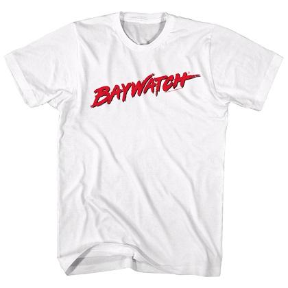 Baywatch Logo White Tshirt