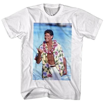 Baywatch Hawaiian Hasselhoff Tshirt