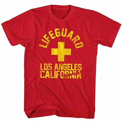 Baywatch La Guard Mens Red T-Shirt