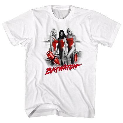 Baywatch Ladies in Red Tshirt