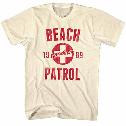 Baywatch Beach Patrol Mens White T-Shirt