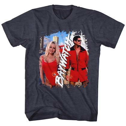 Baywatch Pam and Hasselhoff Tshirt
