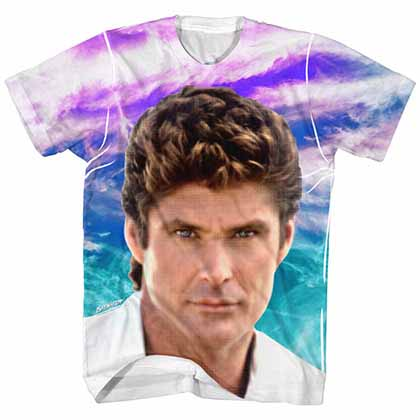Baywatch Hoff Sublimation Mens White T-Shirt