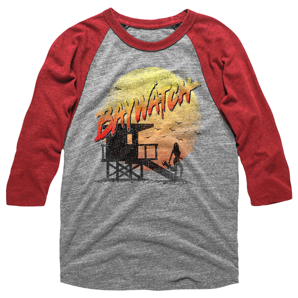 Baywatch The Beach Baseball Tee