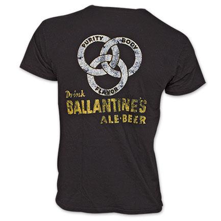 Ballantine Beer Vintage Black Shirt