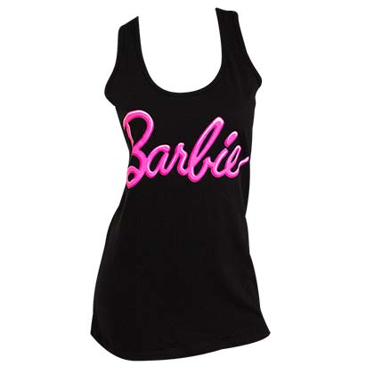 Barbie Women's Racer Back Black Tank Top