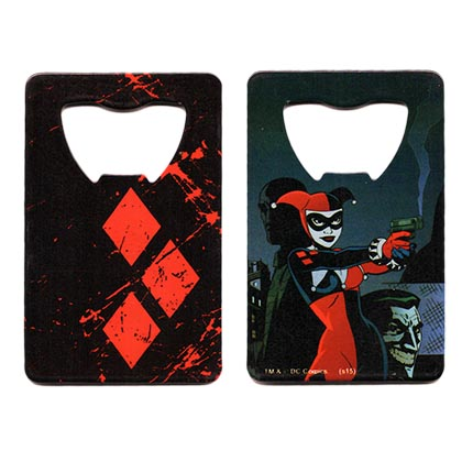 Harley Quinn Beer Bottle Credit Card Opener