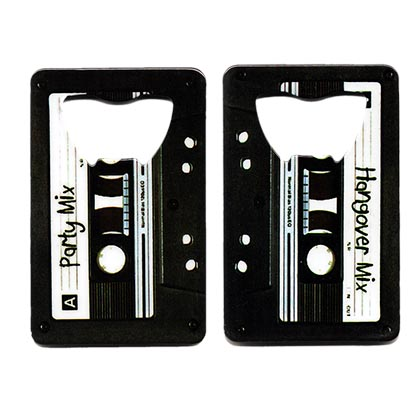 Mix Tape Beer Bottle Credit Card Opener