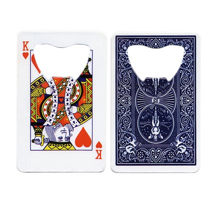 King Of Hearts Credit Card Bottle Opener