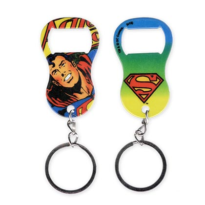 Superman Rubber Coated Pop Art Keychain Bottle Opener
