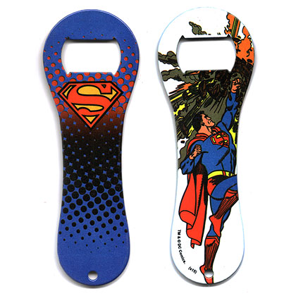 Superman Rubber Coated Dog Bone Bottle Opener