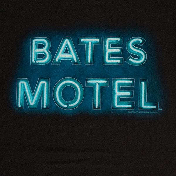 Bates Motel Black Neon Sign Tee Shirt