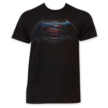Batman v Superman Logo Black T-Shirt
