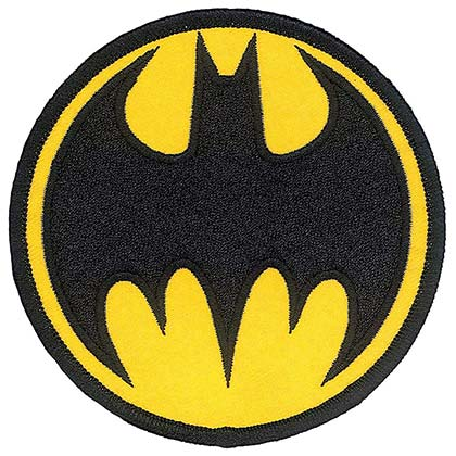 Batman Comic Logo Iron On Patch