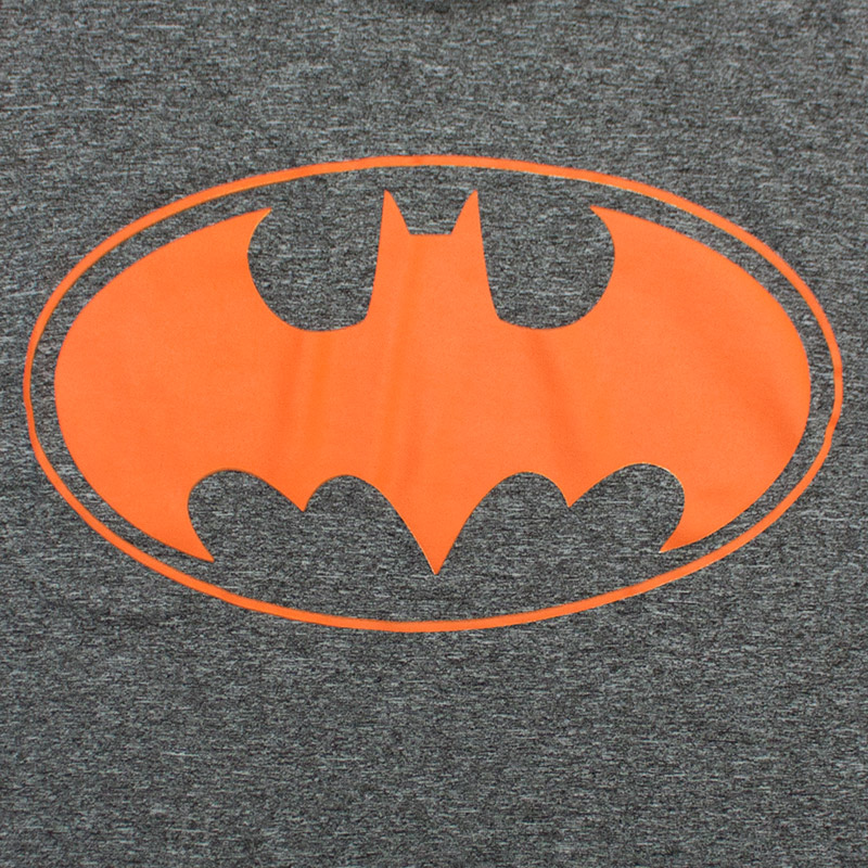be5d0ab746840 Batman Charcoal Grey Orange Logo T-Shirt