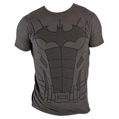 Batman Men's Charcoal Suit Up Costume T-Shirt