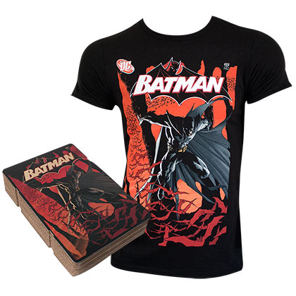 Batman Corrugated Boxed Black Tee Shirt