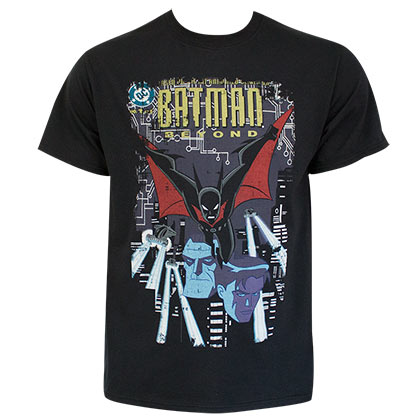 Batman Beyond Comic Cover Black Tee Shirt