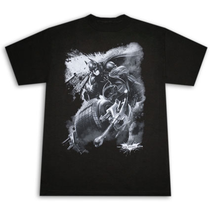 Batman Dark Knight Rises Extreme Batrider T Shirt - Black