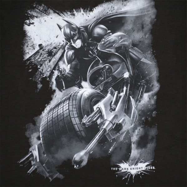 Batman Dark Knight Rises Extreme Batrider T Shirt Black