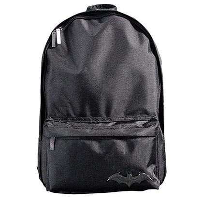 Batman Emblem 16in Black Backpack