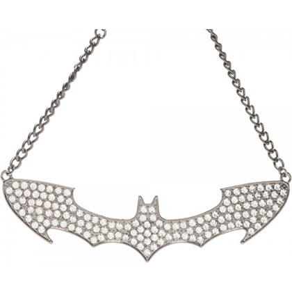Batman Choker Rhinestone Women's Bat Logo Necklace