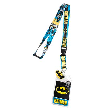 Batman Comic Block Logo Lanyard