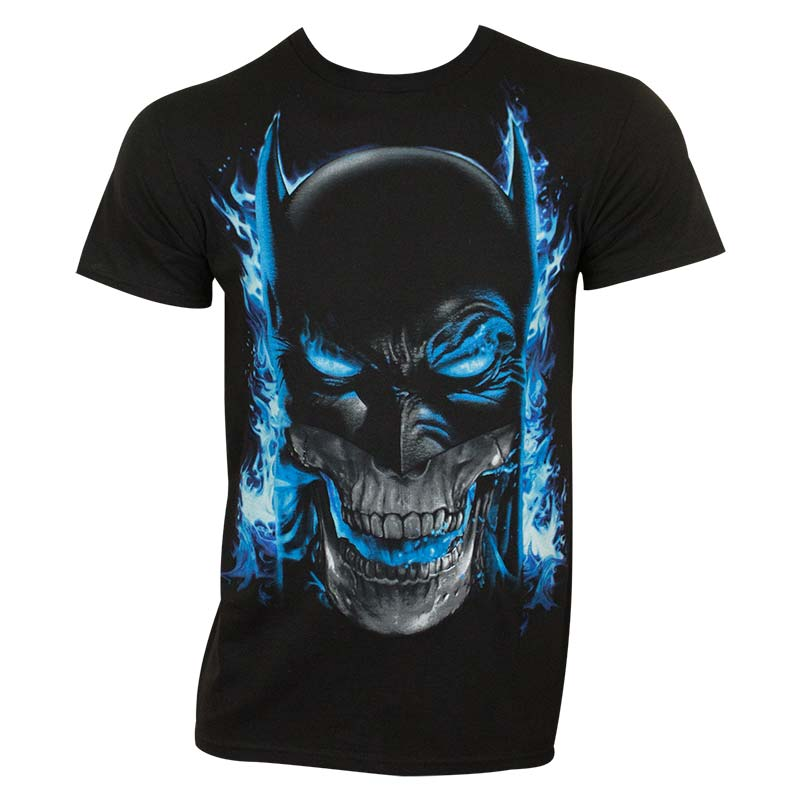 Batman Blue Flame Tee Shirt