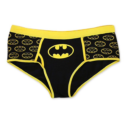Batman Black And Yellow Women's Bat Signal Panty