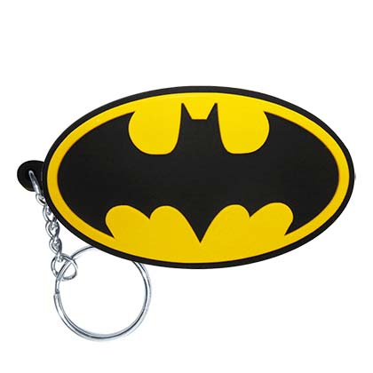 Batman Comic Logo Rubber Keycain