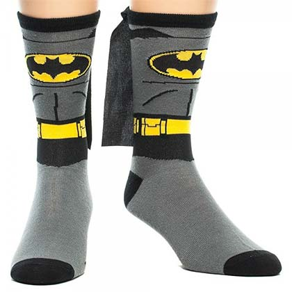 Batman Suit Up Men's Cape Socks