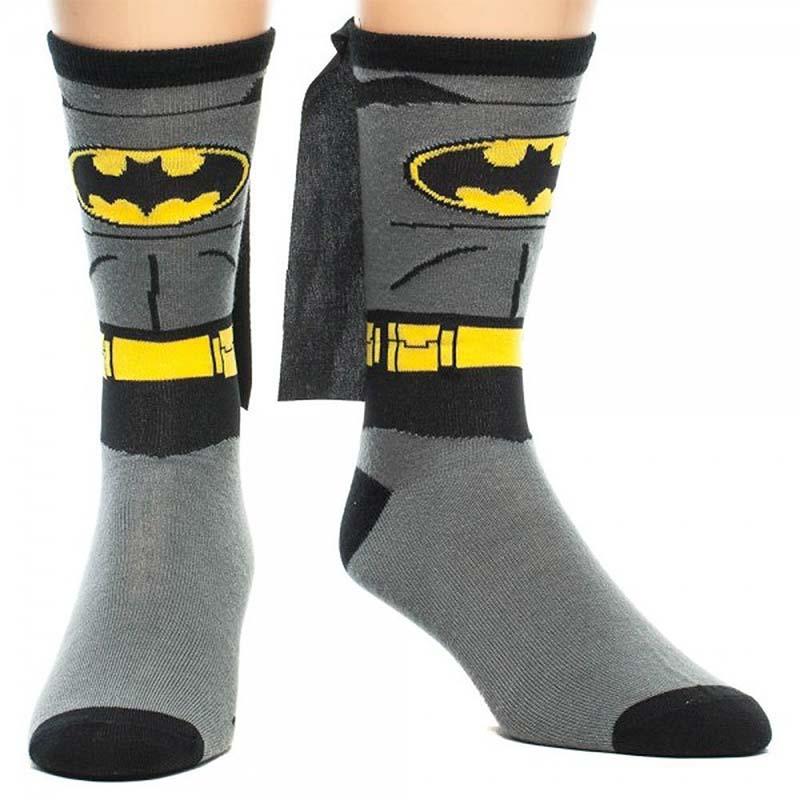 Batman Suit Up Men's Cape Socks