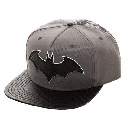 Batman Grey Carbon Fiber Snapback Hat