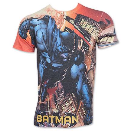 Batman Men's Action Swoop Sublimation Tee Shirt