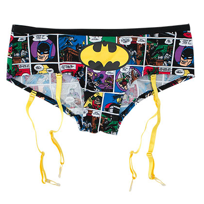 Batman Comic Art Garter Panties