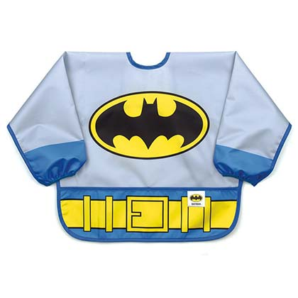 Batman Blue Infant Costume Sleeved Bib