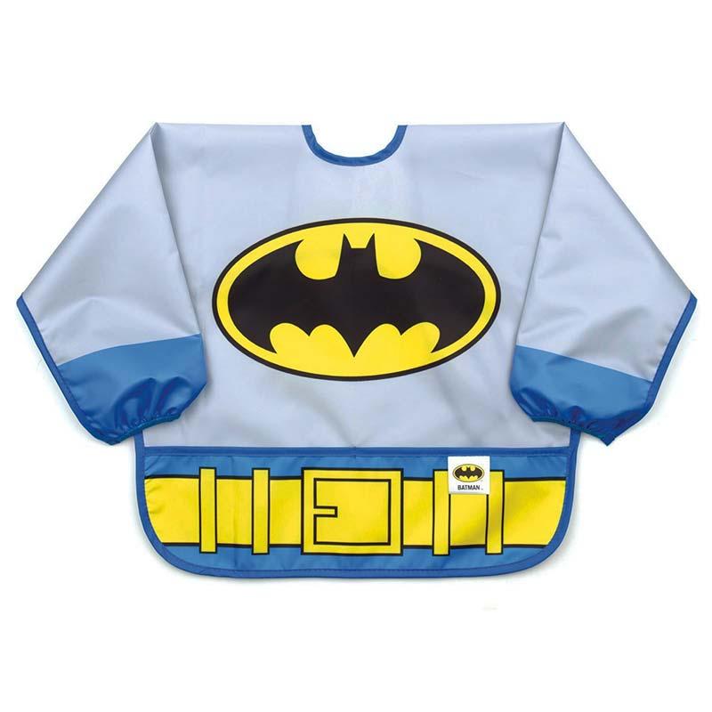 Batman Blue Infant Costume Sleeved Bib