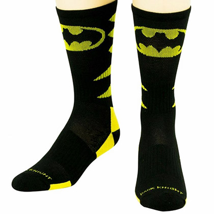Batman Active Crew Bat Signal Socks