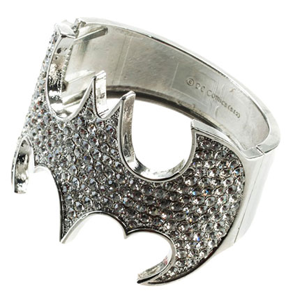 Batman Crystal Bat Logo Cuff Bracelet