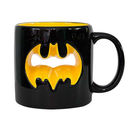Batman Black Cutout Logo Coffee Mug