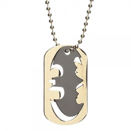 Batman Logo Cut Out Dog Tag Necklace
