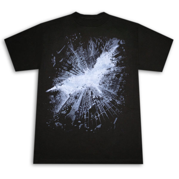Dark Knight Rises Sky Symbol T Shirt - Black