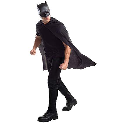 Batman Black Masked Costume Cape