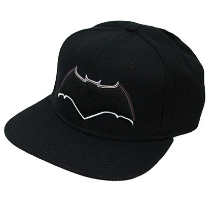 Batman Embroidered Superhero Logo Black Snapback Hat