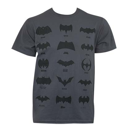 Batman Men's Grey Logo History T-Shirt