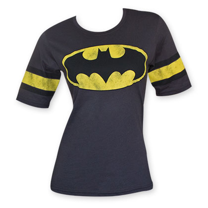 Batman Hockey Style Women's Black Bat Logo Shirt