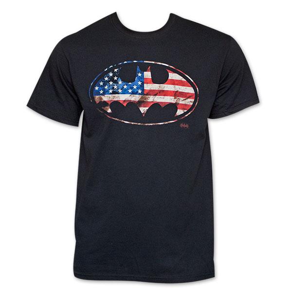 Batman American Flag Bat Sign T-Shirt