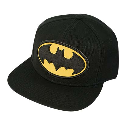 Batman Emblem Black Snap Back Hat