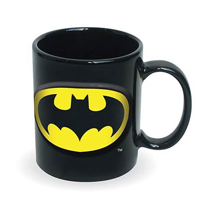 DC Batman Black Embossed Coffee Mug