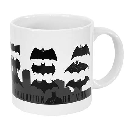 Batman White Evolution Logo Mug